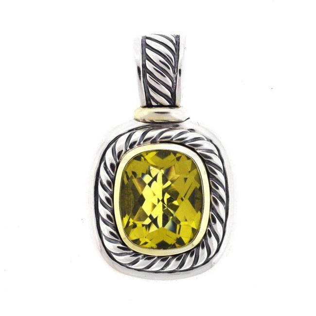 Item - Green Albion Two Tone Peridot Enhancer Pendant