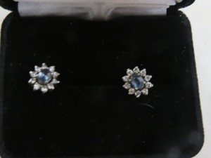 Other Sapphire and Diamond White Gold Plated Earrings
