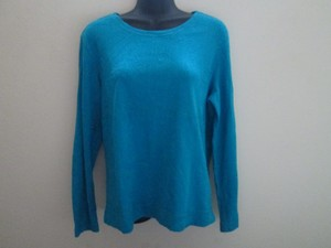 Chico's Embroidered Spring Knit Blue Top Turquoise