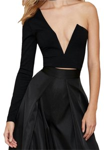 Nasty Gal Sexy One Sleeve Date Night Top Black