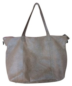 Liebeskind Leather Embossed Large Tote in tan