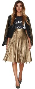 Nasty Gal Date Night Girls Night Out Skirt Gold