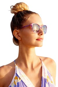 Wildfox Parker Retro Cat Eye Sunglasses in Breeze