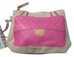 Thursday Friday Thursday Friday Diamonds Here MIni Clutch makeup bag Pink $35 NEW