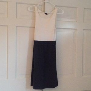Theory short dress White and Navy on Tradesy