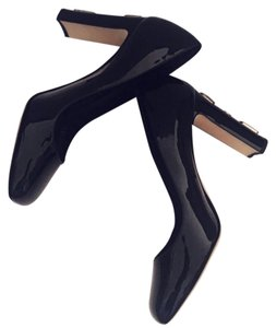 Dolce&Gabbana Patent Leather Jewel Square Toe Pumps