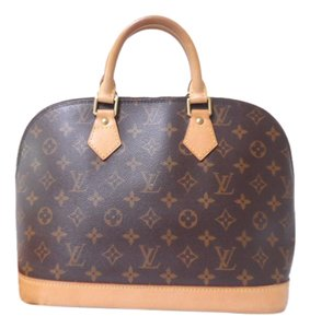 Louis Vuitton Handbag Vintage Leather Satchel in Monogram