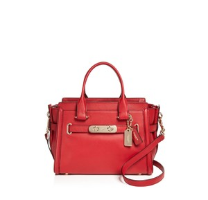 Coach Swagger Carryall 27 Satchel in Red Currant