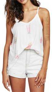 Wildfox V-neck Top Clean White