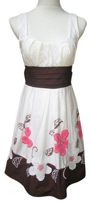 City Triangles short dress White Pink Brown on Tradesy