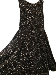 Taylor short dress Black with beige polka on Tradesy