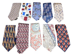 Other Lot of 10 Fine Neck Ties - Most Silk