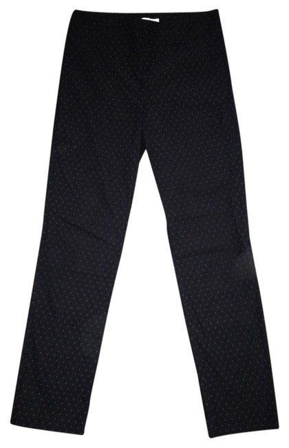 Item - Black with Grey Dots Stitch Fix Emer Polka Dot Print High Waisted Cropped Pants Size 4 (S, 27)