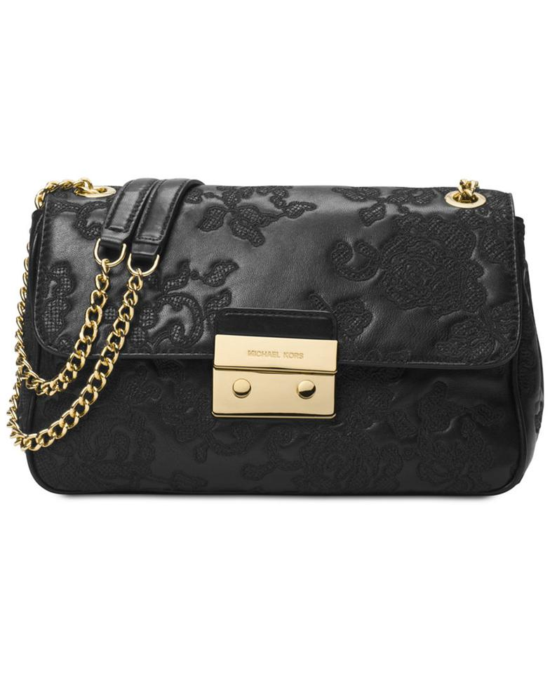 4f5455fe0db8 Michael Kors Rare Chain Woven Chain Lace-embroidered Lambskin Shoulder Bag  Image 0 ...