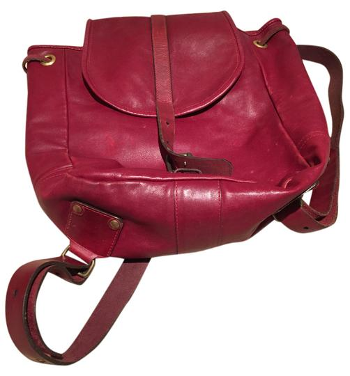 Preload https://img-static.tradesy.com/item/20365334/burgundy-with-buckle-closure-leather-backpack-0-1-540-540.jpg