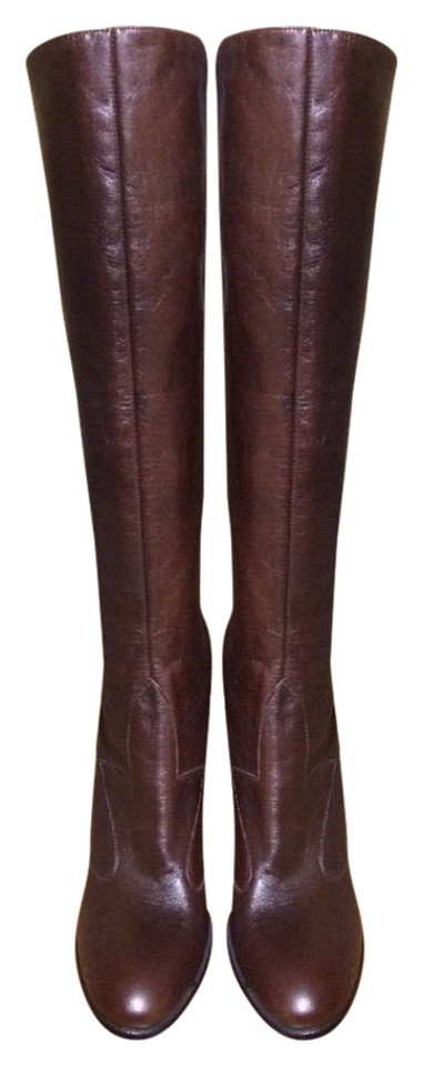 Brown Leather Boots/Booties New Without Tag Vintage Boots/Booties Leather a4e340