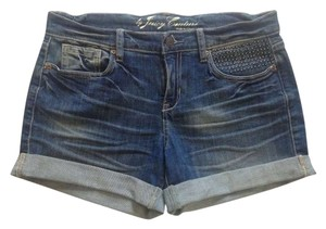 Juicy Couture Denim Studs Shorts Blue denim
