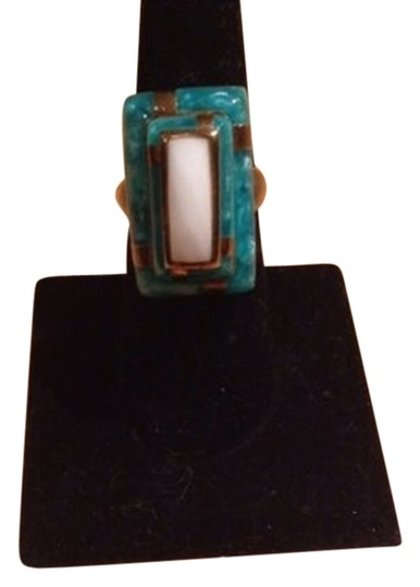 Preload https://item1.tradesy.com/images/kenneth-jay-lane-turquoise-and-white-agate-ring-2036575-0-0.jpg?width=440&height=440
