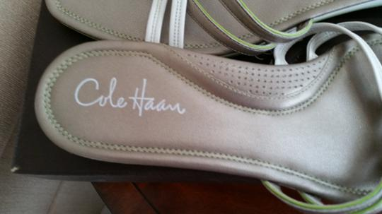 Cole Haan Pewter and Ivory Wedges