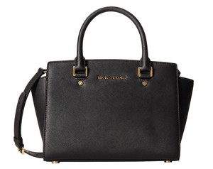 Michael Kors 30s3glms2l Selma Medium Mk Satchel in Black