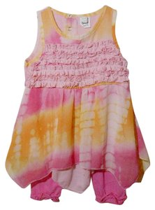 Baby Ganz Toddler Girls Linned tank dress set size 18-24 months.