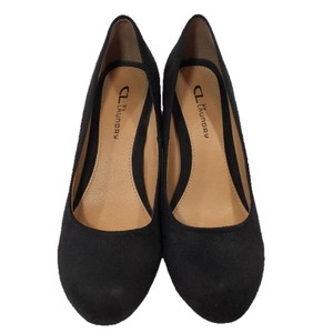 CL by Chinese Laundry Suede Leather Wedge Casual BLACK Wedges