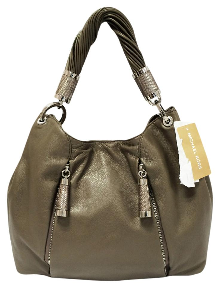 7c4802a81f19 Michael Kors Tonne Anthracite Calfskin Leather Hobo Bag - Tradesy