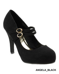Red Circle Footwear Black Pumps