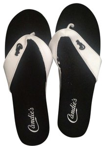 Candie's Black and White Sandals