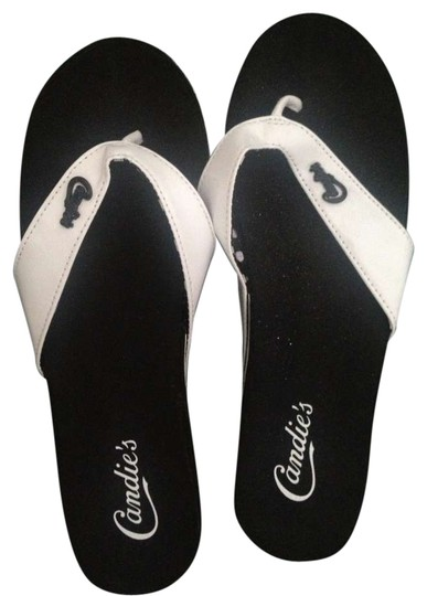 Preload https://img-static.tradesy.com/item/203660/candie-s-black-and-white-sandals-size-us-75-0-0-540-540.jpg