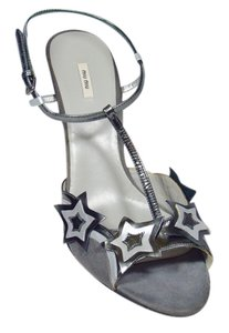 Prada Star T-strap New Gray Sandals
