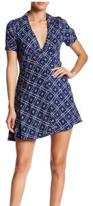 Free People short dress Flirty Melody Flared Print on Tradesy