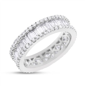 Other 3.13 Carat Natural Diamond, Baguette & Round Eternity Band In Solid 18