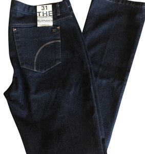 JOE'S Dark Denim Cigarette Slim Straight Leg Jeans-Dark Rinse