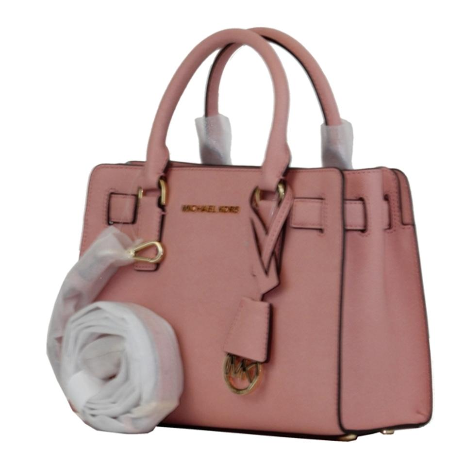 7e19b1483491 Michael Kors Dillon Small Saffiano Pale Grapefruit Leather Satchel ...