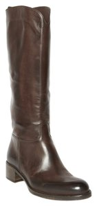 Sartore Riding Black Leather Brown Boots