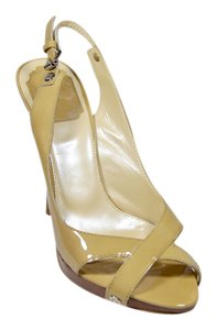 Dior Patent Leather Beige Platforms