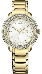 Tommy Hilfiger Tommy Hilfiger Gold Stainless White Dial Glitz Womens Watch 1781467