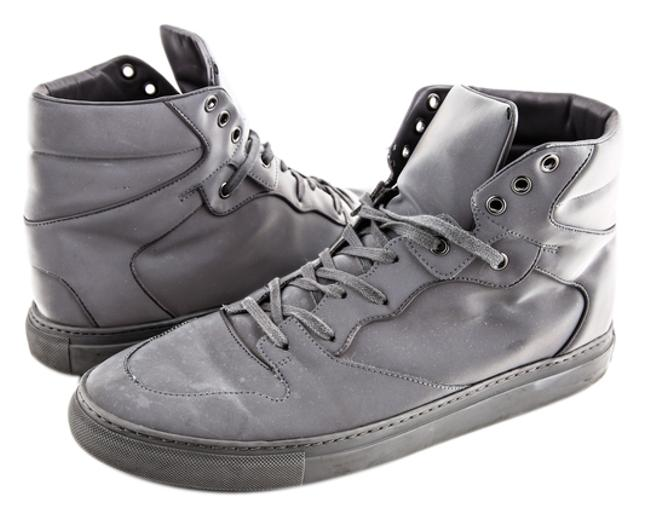 Item - Grey Leather Trainers Boots/Booties Size US 9 Regular (M, B)