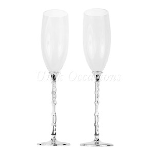 Two Brides Wedding Toasting Flutes/champagne Glasses - 0145(2b)