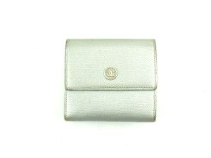 Chanel Caviar Skin Leather Trifold Clutch Wallet Italy
