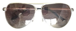 Marc Jacobs Silver Aviators with Gradient Lenses