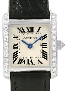 Cartier Cartier Tank Francaise Small 18k White Gold Diamond Watch WE100231