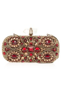 Marchesa gold, red Clutch
