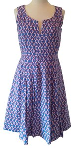Tory Burch short dress Purple and Blue on Tradesy