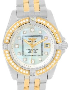Breitling Breitling Cockpit Ladies Steel 18K Yellow Gold Diamond Watch D71356