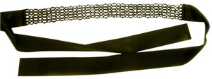 Other Belt Women Clothing Accessory Black Color Dressy Satin & Beads