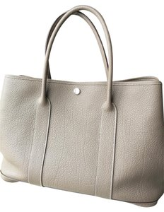 Hermès Garden Party 36 Leather Tote in Etoupe