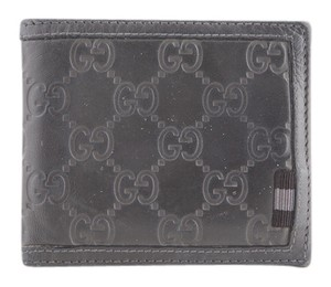 Gucci * Gucci Rubberized Leather Wallet