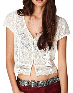 Free People Eyelet Festival Classic Top White